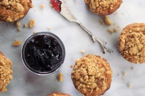 Baked, Occasionally: peanut butter + Jelly muffins.