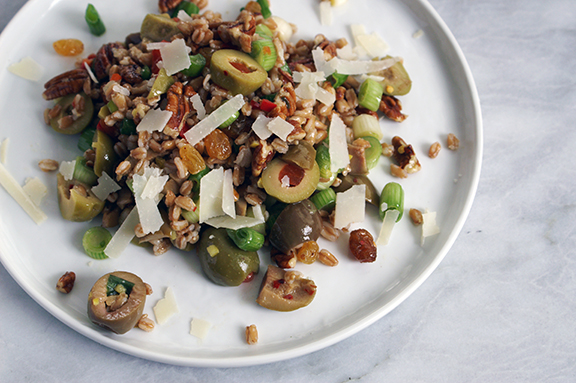 olive farro salad. | a periodic table