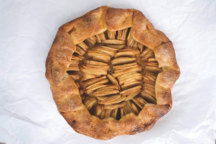 apple galette + caramel sauce. | a periodic table