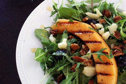 grilled cantaloupe salad with hot paprika vinaigrette. | a periodic table